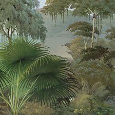 Paysages colorés - Lombok couleur L450xH250cm - Ultra mat - 5 lés de 90cm