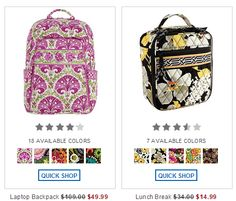 add5da6951f9 Vera Bradley Outlet sale online factory store discounts 2014 Vera Bradley