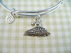 A Shining Anchor Pendant Adds A Nautical Touch In This Expandable - Alex and ani cruise ship bangle
