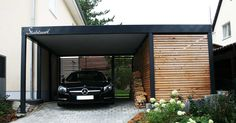 Carport Metall Holz München · Abstellraum · Stahlcarport · STAHLZART There are many things which