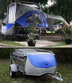 SylvanSport Blue GO trailer - um how amazing is this!!!??? @Mike Tucker Tucker Tucker Tucker Tucker'n Rosenhahn