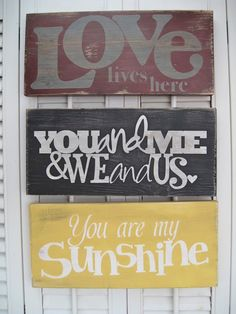 You Are My Sunshine Word Art Sign. $15.00, via Etsy.
