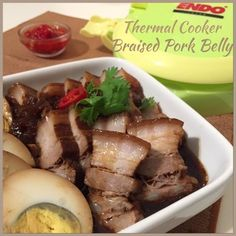 My Mind Patch: Thermal Cooker Braised Pork Belly 焖烧锅卤三层肉