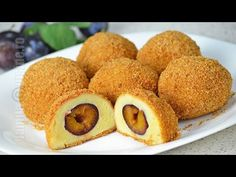 ▶ Galuste cu prune - JamilaCuisine - YouTube Croatian Recipes, Mexican Food Recipes, No Cook Desserts, Dessert Recipes, Yummy Recipes, Cooking Time, Cooking Recipes, My Favorite Food, Favorite Recipes