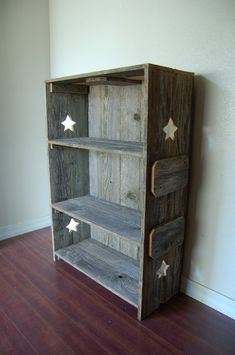 Rustic Bookcase Handcrafted from Old Cedar Wood. Historical and Charming :) Eco Furniture, Wood Bookcase, Wood Shelf Recycled Wood Furniture, Eco Furniture, Repurposed Wood, Furniture Projects, Rustic Furniture, System Furniture, Repurposed Items, Furniture Plans, Farmhouse Bookcases