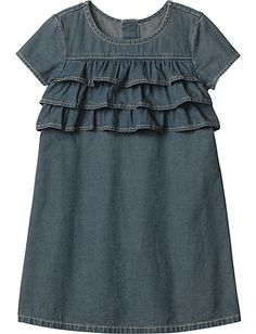 Chambray Ruffle Dress Product Information
