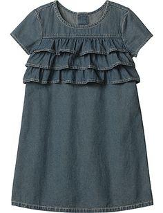 Chambray Ruffle Dress Product Information