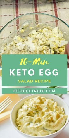 10-min low-carb Keto egg salad recipe that taste delicious. #ketoeggsalad #ketorecipe #ketodiet