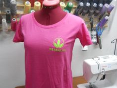 HERBALIFE Woman's TShirt / Green Logo / Cotton by Bagsmadetoorder, $17.00