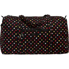 Vera Bradley Large Duffel 2.0 - Havana Dots - Travel Duffels (270 BRL) ❤ liked on Polyvore featuring bags, luggage and print