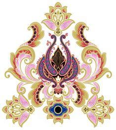 Paisley Wallpaper, Paisley Art, Paisley Pattern, Textile Pattern Design, Art Deco Pattern, Islamic Motifs, Hamsa Design, Flower Art Images, Wildflower Tattoo