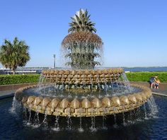 This is a great waterfront park in downtown Charleston.  It has two fountains, beautiful pathways and great views of the Yorktown, The bridge and the Harbor.  Charleston Waterfront Park: The Southern sign of hospitality
