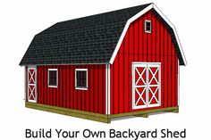 16x24 barn shed plans. Build your own backyard barn shed!
