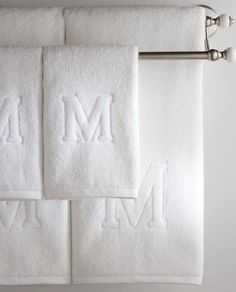 I have an embroidery/monogram machine. I haven& unpacked it since we moved. Seeing these towels gets me excited to warm my home with personality Towel Embroidery, Embroidered Towels, Embroidery Monogram, Embroidery Fonts, Embroidery Applique, Machine Embroidery Designs, Embroidery Patterns, Monogrammed Hand Towels, Monogram Towels