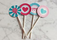 Cupcake toppers for parties