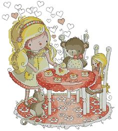 Tea Party With Friends by Rachelle Miller