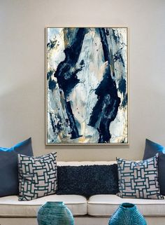 Large Abstract Painting Large wall art Gold and Blue Art Large Abstract Wall Art Printable Art Navy Blue Print 2436 print Dan Hobday Large Abstract Wall Art, Abstract Canvas, Canvas Wall Art, Large Art, Extra Large Wall Art, Large Canvas, Art Bleu, Wall Decor, Room Decor