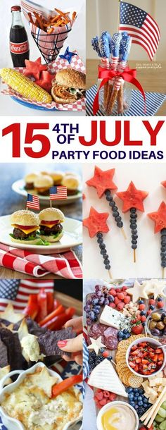 OMG! I m the cheeseboard, sliders and fruit kebob 4th of July party food ideas and they were a total hit!! Independence day, July 4th BBQ, summer BBQ recipes, memorial day, patriotic, red, white and blue food ideas