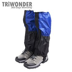 Triwonder 1 Pair Unisex Outdoor Snow Leg Gaiters Leggings Cover Waterproof Snowproof Antitear for Hiking Walking Climbing Hunting BlueBlack * Want additional info? Click on the image. This is an Amazon Affiliate links.