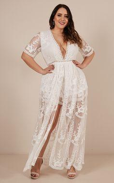 Maxi Playsuit, Lace Romper, Lace Dress, White Dress, Mismatched Bridesmaid Dresses, Bridal Robes, Wedding Dresses Plus Size, Nice Dresses, Amazing Dresses