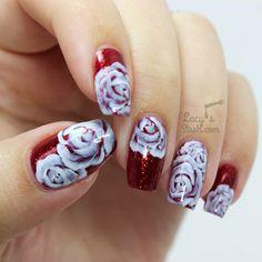 White Roses Nail Art Over Sparitual Http Www Lucysstash