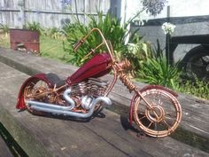 second attempt at copper wire motorcycle.