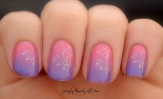 Simply Handy All Year: Summer Challenge Day 32 - Pink and Purple Mani