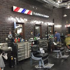 tool boxes used as cabinets at 2 percent barber shop 7980 monet ave at victoria gardens in rancho cucamonga california ownership donates of all revenues - Barbershop Design Ideas