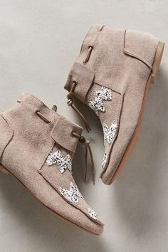 House of Harlow Monty Moccasin Booties - anthropologie.com Ok....my 30th birthday is like 3 weeks from now, if anyone who has money wants to buy me these I'd love you LONG time! I wear a size 10!