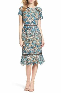 Shoshanna Octavia Lace Midi Dress