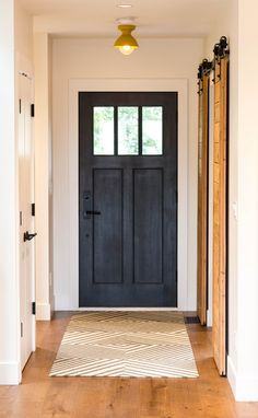 56 Ideas Modern Front Door Colors Floors For 2019 Door Hardware Interior, Front Door Colors, Interior Barn Doors, Front Door Hardware, House, Wood Doors Interior, White Doors, Doors Interior, House Front