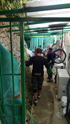 our guests park their bikes in our bikeroom #hoteliliana #varigotti #mtb