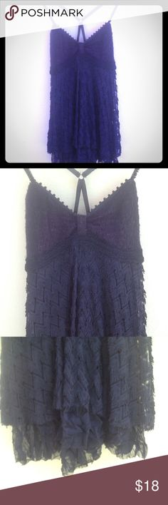 Free People Halter Top Knit top with lace accents at the bottom. Adjustable beaded straps. Size s/p. Loving worn. Price firm . Free People Tops Camisoles