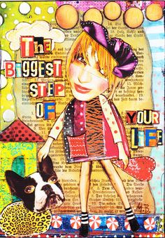Give Your Heart Away by bockel24 - Cut n Paste A5 sized journal page made with Crowabout StudioB kit The Right Direction (http://www.mischiefcircus.com/shop/product.php?productid=23669&cat=&page=), available at MischiefCircus.com
