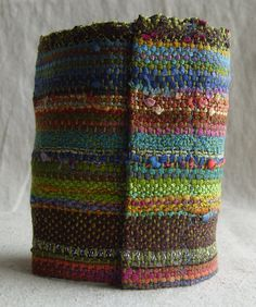 October Bliss Handwoven Cuff by barefootweaver on Etsy, $36.00