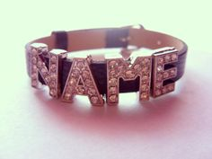Personalized Name or Word Slide On Charm Bracelet by emisminis, $15.00