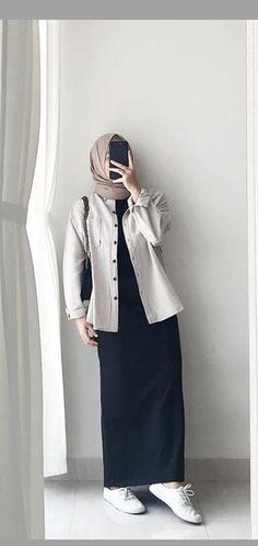 Modest Fashion Hijab, Street Hijab Fashion, Casual Hijab Outfit, Ootd Hijab, Muslim Fashion, Casual Outfits, Fashion Outfits, Hijab Fashionista, Hijab Fashion Inspiration