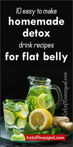 10 Homemade Weight Loss Detox Drinks for Colon Cleansing and Flat Belly - This post contains 10 best recipes for instant body detox drinks made with the readily available in - Weight Loss Detox, Weight Loss Drinks, Weight Loss Smoothies, Lose Weight, Water Weight, Body Detox Drinks, Fat Burning Detox Drinks, Diet Drinks, All You Need Is