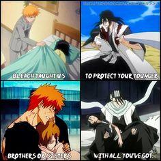 One of the reasons why I love Ichigo and Byakuya sama so much!! They are amazing aniki(older brothers)!!<3