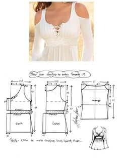 Discover thousands of images about Patrones top Dress Sewing Patterns, Sewing Patterns Free, Clothing Patterns, Fashion Sewing, Diy Fashion, Ideias Fashion, Diy Clothing, Sewing Clothes, Costura Fashion
