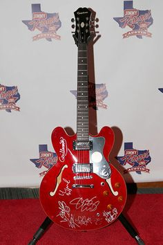 Epiphone Dot Guitar Signed by Lil Wayne, Willie Nelson, Jimmy Kimmel +