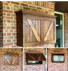 Protect your outdoor TV with a beautiful custom TV cabinet. Doors open with a vertical lifting system. Cabinet comes painted or stained. Outdoor Tv Box, Outdoor Tv Covers, Outdoor Tv Case, Outdoor Tv Mount, Casa Patio, Backyard Patio, Backyard Projects, Outdoor Projects, Tv Escondida