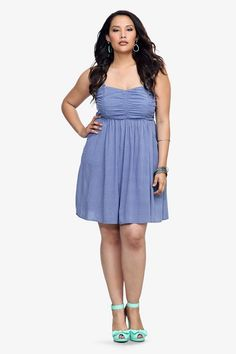 This breezy dress - shaped by a gathered bodice and a flowy skirt with pockets - is primed to be your summer substitute for a tee and shorts. Removable straps, a smocked back and no-slip piping make for easy strapless wear.
