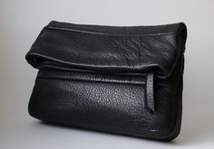 Leather clutch  OPELLE FoldOver Clutch Bag  by opellecreative, $128.00