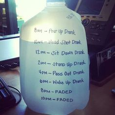 An idea I stole to help drink a gallon of water a day. Inspired by Kendrick Lamar!