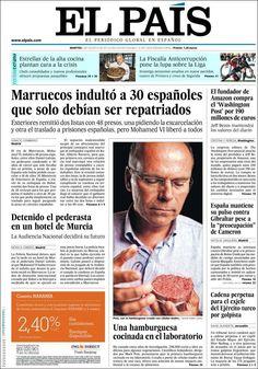 Los Titulares y Portadas de Noticias Destacadas Españolas del 6 de Agosto de 2013 del Diario El País ¿Que le pareció esta Portada de este Diario Español?