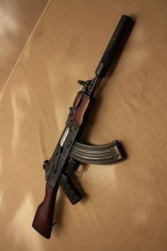Suppressed Kalashnikov