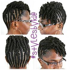 Cornrow Updo On Short Hair Twists Naturalhair Naturalhairstylist