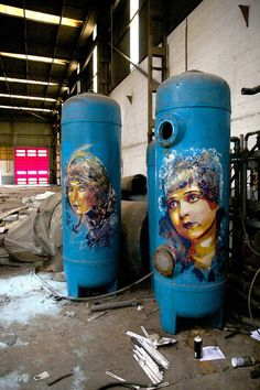 Abandoned factory - Street Art by Andrea Michaelsson