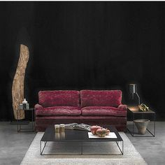 An atmosphere of sophisticated relax in Zeus living room: small tables of the SLIM IRONY collection, frame in steel square tube and top in sheet steel or old massive wood. In the same picture the ISTANBUL table lamp, available in natural sheet steel,...